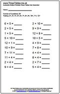 math worksheet : times tables pdf worksheet quiz generator  timestables me uk : 5 Multiplication Table Worksheet